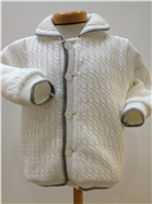 Pretty Originals Baby Boys Cream knitted Jacket JP65134
