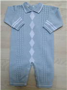 Pretty Originals Baby Boys Blue Knitted Romper JP63000