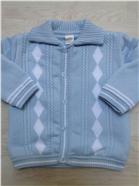 Pretty Originals Boys Blue/White Knitted Coat JP63134