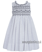 Sarah Louise Girls Dress 9312 Navy