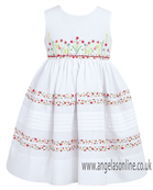 Sarah Louise Girls Dress 9348 White