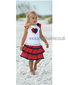 Sarah Louise Girls Top & Skirt 9322/9324