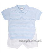 Pex Boys Top & Shorts B5563 BL/WH