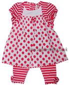 Deux Par Deux Girls 2 Pce Set A175 Pink/White