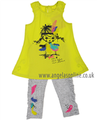 Deux Par Deux Girls Top & Leggings C75/C62 Lime