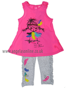 Deux Par Deux Girls Top & Leggings C75/C62 Pink