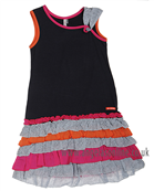 Deux Par Deux Girls Dress G94 Grey