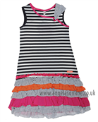 Deux Par Deux Girls Dress G94 Stripe