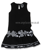 Deux Par Deux Girls Dress H90 Black