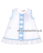 Mebi Girls Dress 1360057 WH/BL