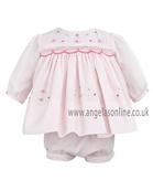 Sarah Louise Baby Girls Dress & Frilly Panty 9461 Pink