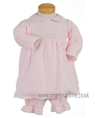 Pretty Original Baby Girls Knitted Dress & Panty JP96230 Pink