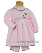 Pretty Original Baby Girls/Toddler Knitted Winter Dress JP94230 PK/GR