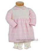 Pretty Original Baby Girls Knitted Dress with Panties JP98230 Pk/Cr