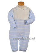 Pretty Originals Baby Boys Pale Blue Knitted All in One JP97000 BL/CR