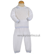 Pretty Originals Boys Top and Trousers Set JP95180 White/Blue