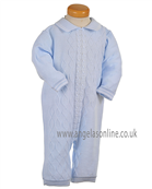Pretty Originals Baby Boys Pale Blue Knitted All in One JP95000 BL/WH