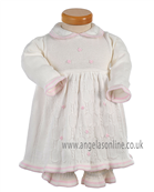 Pretty Original Baby Girls Knitted Dress JP92230 Cream and Pink