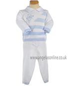 Pretty Originals Boys Jumper & Trouser JP90180 WH/BL