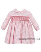 Sarah Louise Baby Girls Traditional Smocked Pale Pink Dress 9510