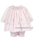 Sarah Louise Beautiful Baby Girls Traditional Pink Dress 9459