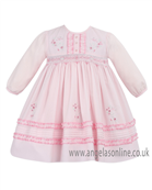 Sarah Louise Traditional Baby Girls Pretty Pink Dress 9496