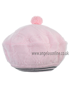 Pretty Originals Girls Pink/Grey Knitted Beret Hat JP94380