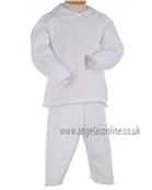 Pex Classic Baby Girls Winter Knitted White Top & Trousers B5764