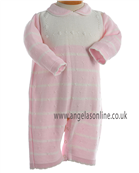 Pretty Originals Baby Girl Knitted Pink & Cream All in One JP98000