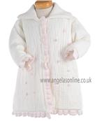 Pretty Original Baby Girls Cream & Pink Winter Coat JP92140