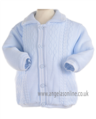 Pretty Originals Baby Boys Knitted Winter Blue/White Jacket JP95120
