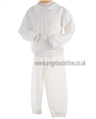 Pretty Originals Boys Winter Cream Knitted Jumper & Trouser JP95180