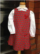 Sarah Louise Traditional Blouse & Red Spotty Pinafore 9569/9580