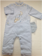 Coco Baby Boys Designer Pale Blue Dungaree, Top & Socks A3042