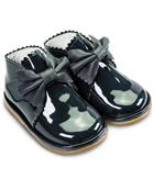Fofito Girls Navy Patent Leather Boot Sharon 1122