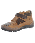 Andanines Boys Tan Leather Winter Velcro Strap Boot 66520