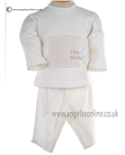 Valenri Baby Boys Warm Winter Cream Jumper & Cord Trouser 319035