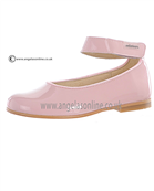 Andanines Girls Pink Patent Leather Shoe 152845 - T71148 Pink