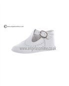 Andanines Boys White Leather Winter Shoes 11011