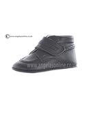 Andanines Baby Boys Soft Sole Leather Velcro Strap Navy Boot J10250
