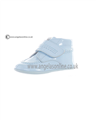 Andanines Baby Boys Leather Velcro Strap Pale Blue Patent Boot J10250