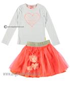 No No Girls Top & Skirt 15110107/80106 Coral