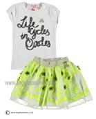 No No Girls White Top & Green Skirt 15110113/80101