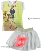 No No Girls Top & Skirt 15110106/80106 white