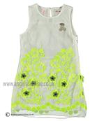 No No Girls  White/Lime Green Dress 15190102