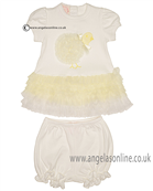 Kate Mack Dress & Bloomers 321LC Ivory