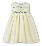 Sarah Louise Girls Sleeveless  Dress 9710 Lemon