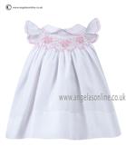 Sarah Louise Baby Dress 9670 WH/PK