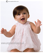 Sarah Louise Baby Dress 9690 Pink