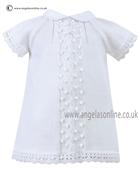 Sarah Louise Baby Girls Dress 9765 White
